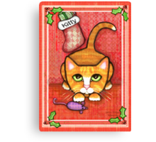Orange Tabby Cat's Christmas Canvas Print