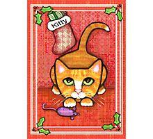 Orange Tabby Cat's Christmas Photographic Print