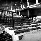 Derelict stairs by Dave Hare
