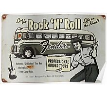Fender Guided Tour - Life on the Road Vintage Sign Poster