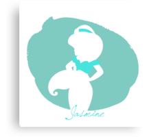 Jasmine aladdin silhouette Canvas Print