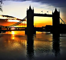 Tower Bridge Sunrise by A90Six