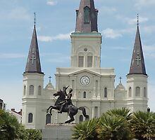 St. Louis Cathedral-Jackson Sq. by dcborn
