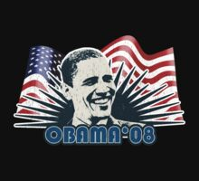 Obama 08 Distressed Vintage Shirt by JayBakkerArt
