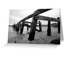 The Old Pier at Fahan Greeting Card