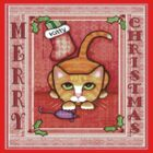 Merry Christmas Cat T-Shirt by Jamie Wogan Edwards