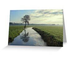 Tree by the Stream Greeting Card