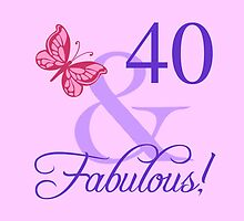 Fabulous 40th Birthday For Her by thepixelgarden