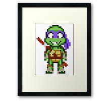 Donnie TMNT 2012 Mini Pixel Framed Print