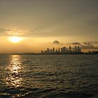 Singapore skyline by vlora