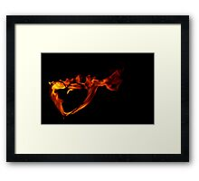 Heart Aflame Framed Print