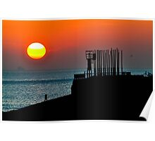sunset at its best Poster