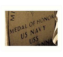 Medal Of Honor Art Print