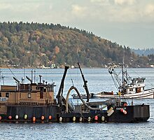 Fish Buyer & Purse Seiner by Bryan Peterson