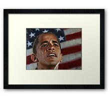 Barack Obama - Change for America, for the World, for All of Us - The Audacity of Hope Framed Print