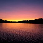 Sunset on the lake by hollaay