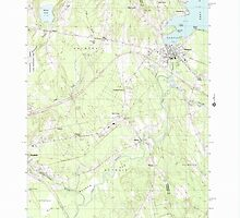 Maine USGS Historical Map Newport 102811 1982 24000 by wetdryvac