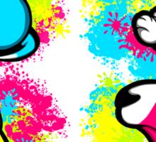 Colour Splash Innocent English Bull Terrier Puppies Sticker