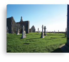 Clonmacnoise - on the Shannon River Canvas Print