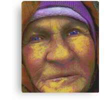 And when I am an old woman I shall wear purple... Canvas Print