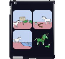 Unicorn and Narwhals as Triceratops - story iPad Case/Skin