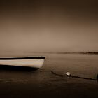 Misty white boat by mrjaws