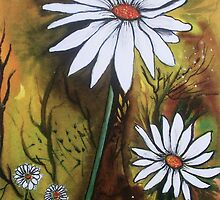 Forest Daisies  by © Linda Callaghan