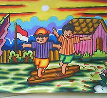 Indonesian children culture's game - by Dea 7 yrs by muti