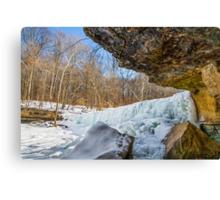 Frozen Anderson Falls Canvas Print