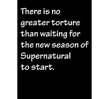 No Greater Torture - Supernatural Photographic Print