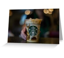 starbucks break Greeting Card