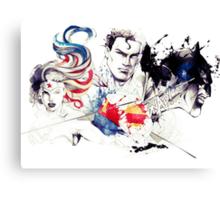 Justice League Splash Art Canvas Print