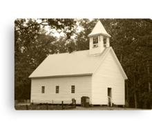 Primitive Baptist Church Canvas Print