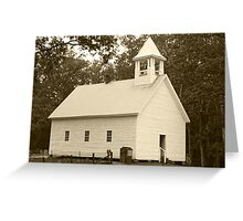Primitive Baptist Church Greeting Card