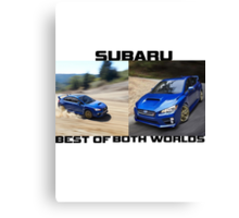 Subaru.. Best of Both Worlds Canvas Print