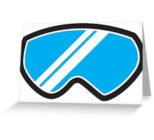 Winter SNOW Goggles  Greeting Card