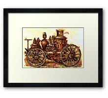 Amoskeag Steam Fire Engine 19th century Framed Print
