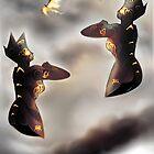 Free Robots of Pepper-Pot Land [Digital Fantasy Illustration] by Grant Wilson