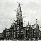 Exterior of City Hall, Philadelphia, Pennsylvania 1876 by Dennis Melling