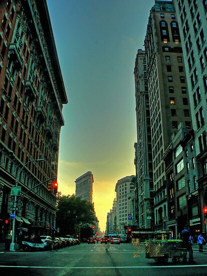 sunset on broadway by AnaLopez