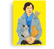 Sherlock and kittens Canvas Print