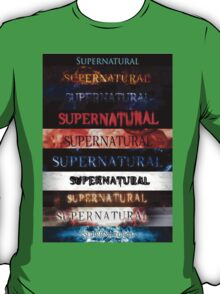 Supernatural intro seasons 1-10 T-Shirt