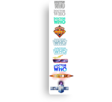 Doctor Who Logos (Leggings and Duvet) Canvas Print