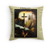 A Burning Desire with lovely bamagirl38 Throw Pillow