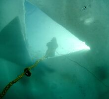 Ice Diving at White Star Quarry by Rich Synowiec