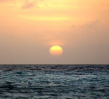 Sunset in Bonaire by Rich Synowiec