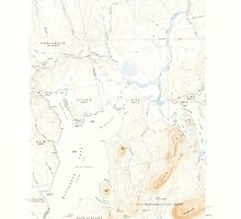 Maine USGS Historical Map North East Carry 460679 1954 62500 by wetdryvac