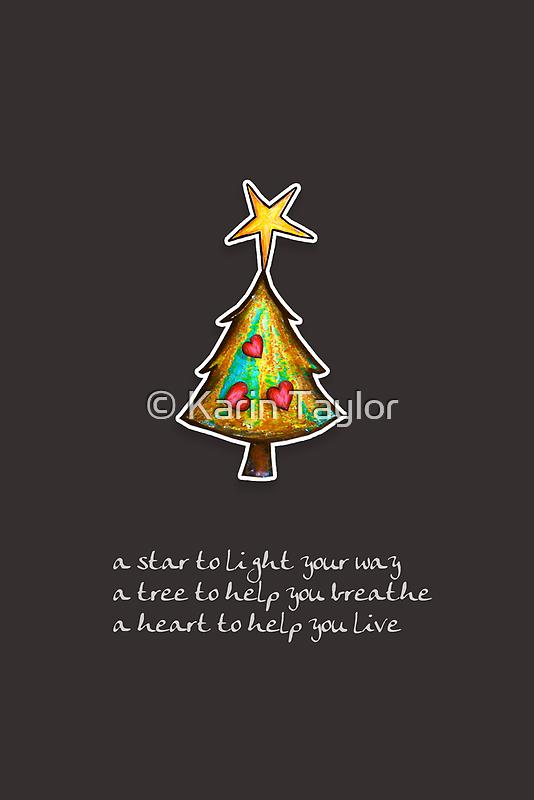 Christmas Card - Chocolate Wish Tree by © Karin  Taylor