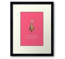 Christmas Card - Lolly Pink Wish Tree Framed Print