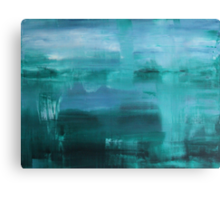 Through the Veil - Abstract Ocean Turquoise Blue Canvas Print